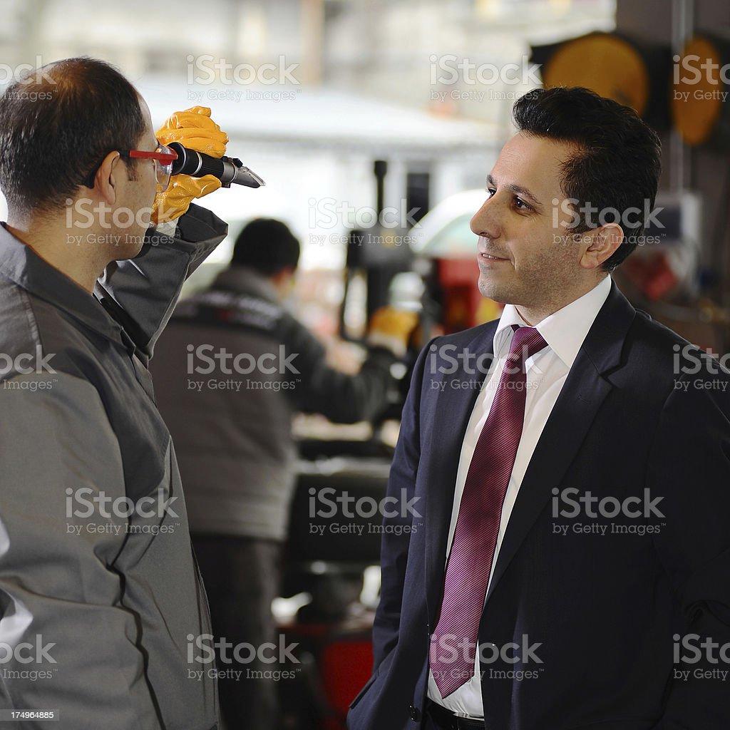 At auto repair shop royalty-free stock photo