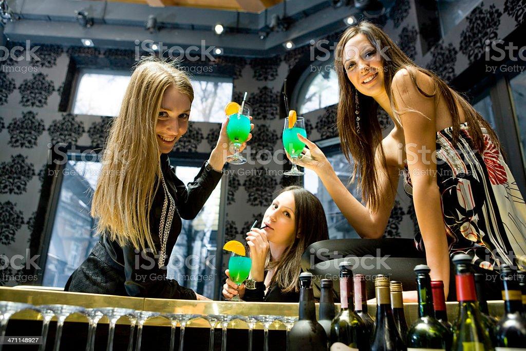 At bar counter royalty-free stock photo