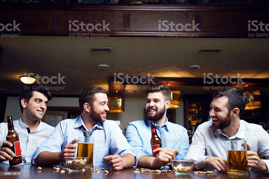 At bar stock photo