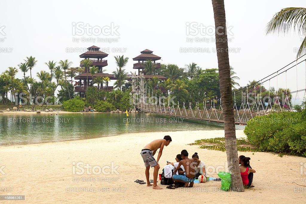 At beach royalty-free stock photo