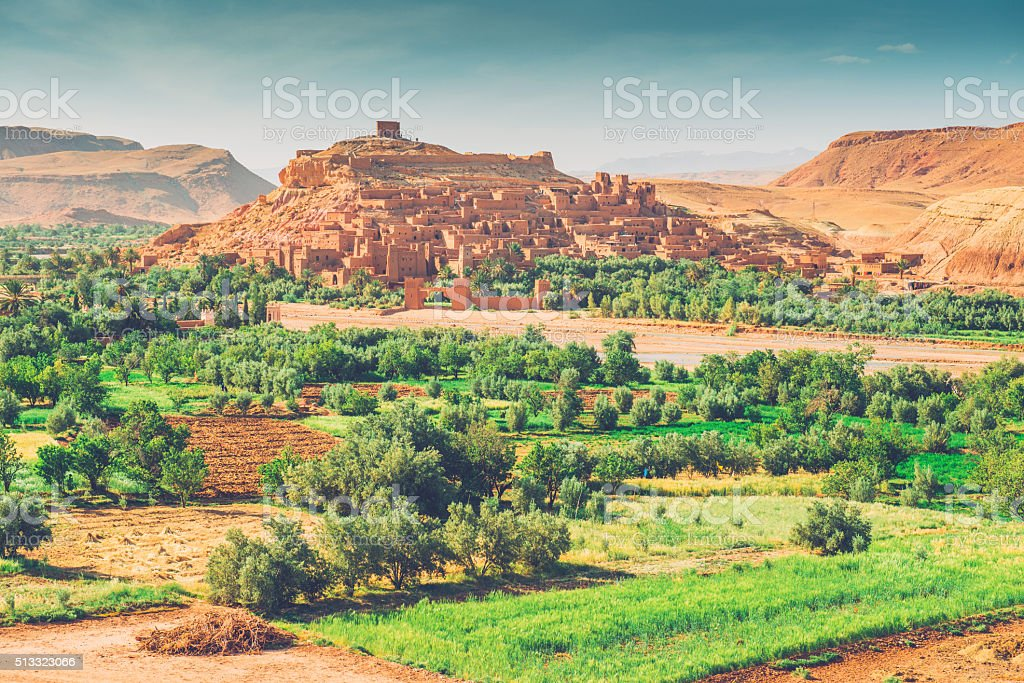 Aït Ben Haddou - Ancient City in Morocco, North Africa stock photo