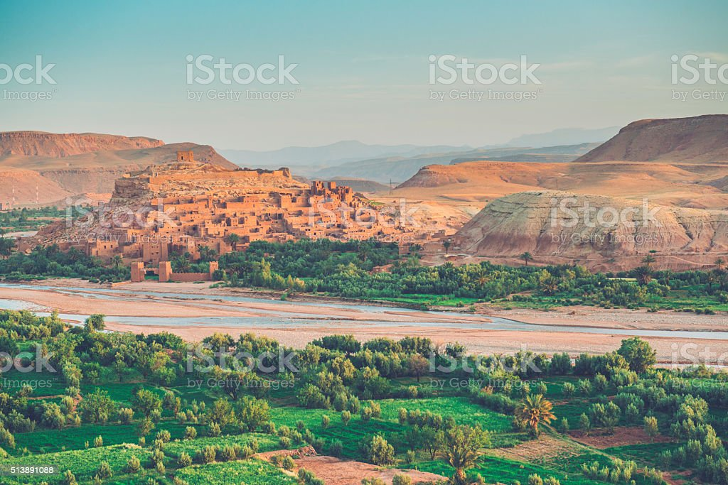 Aït Ben Haddou- Ancient City in Ounila Valley, Morocco, Africa stock photo