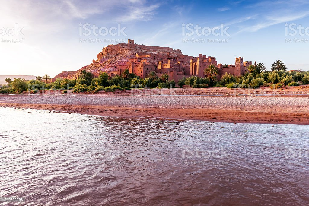 Aït Ben Haddou,Ancient city,river, Morocco, North Africa stock photo