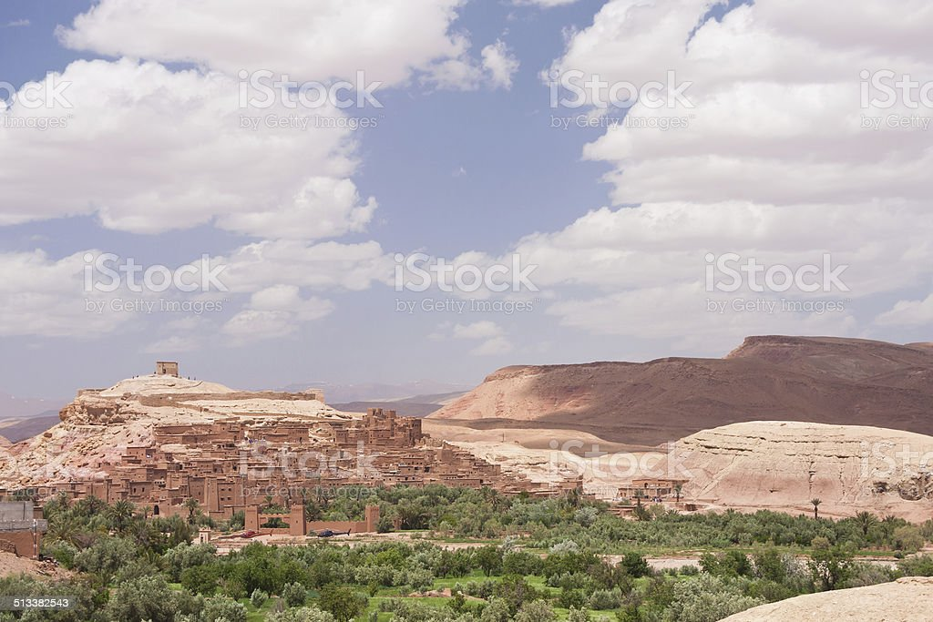 A?t Benhaddou fortified city in Morocco stock photo