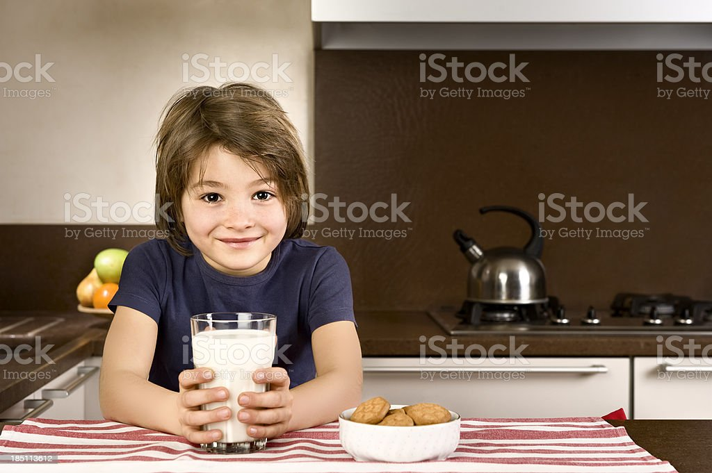 At Breakfast.Color Image royalty-free stock photo