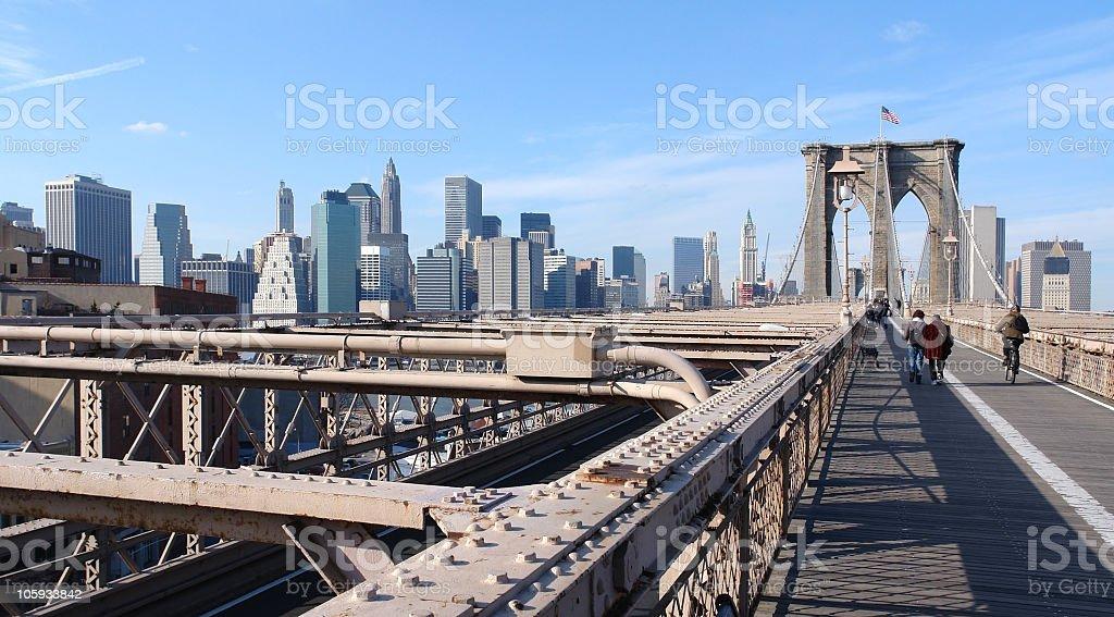 at Brooklyn Bridge in New York royalty-free stock photo