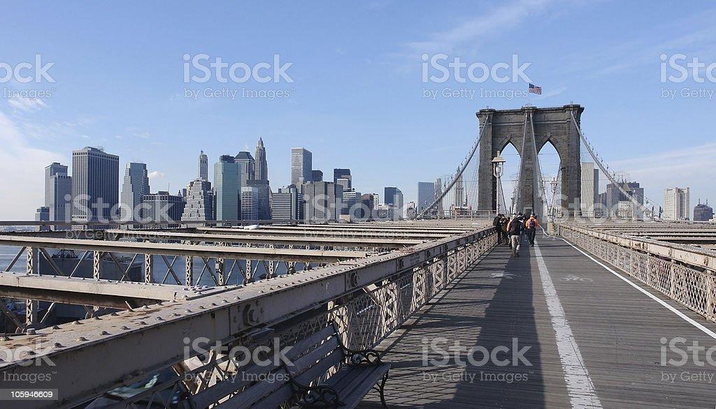 at Brooklyn Bridge royalty-free stock photo