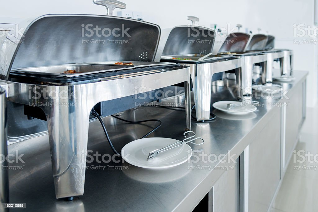 at buffet stock photo