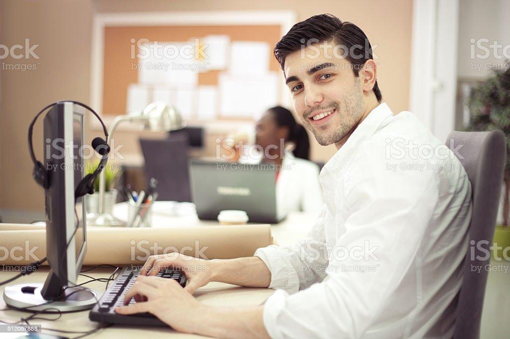 At call centar stock photo