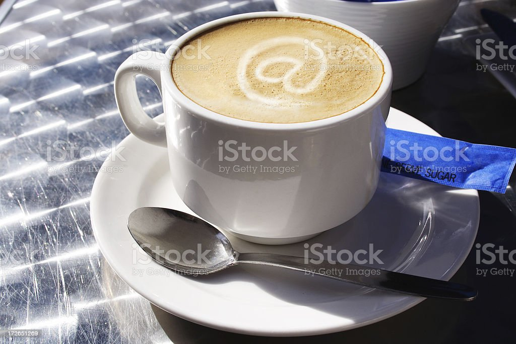 at coffee royalty-free stock photo
