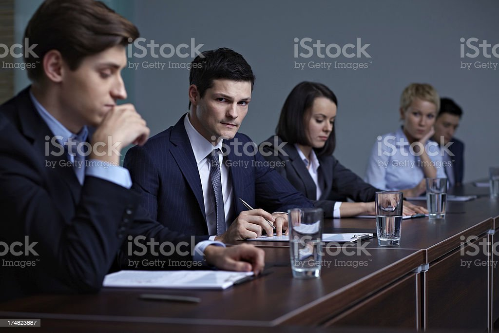 At conference royalty-free stock photo