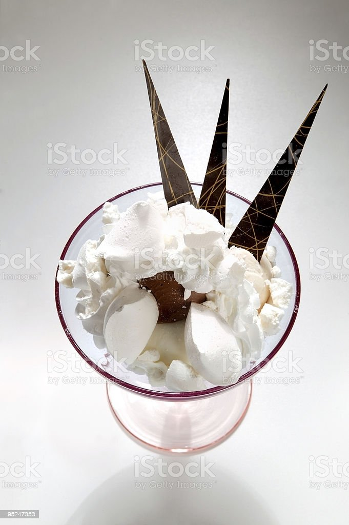 At Cup coconut ice cream stock photo