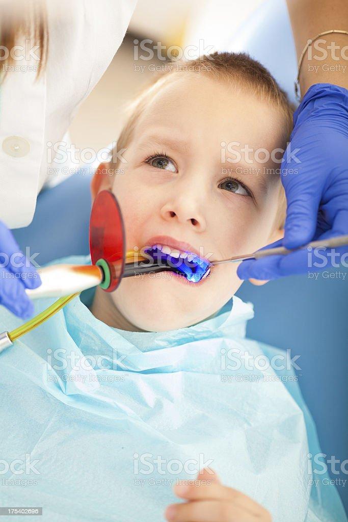 At dentist royalty-free stock photo
