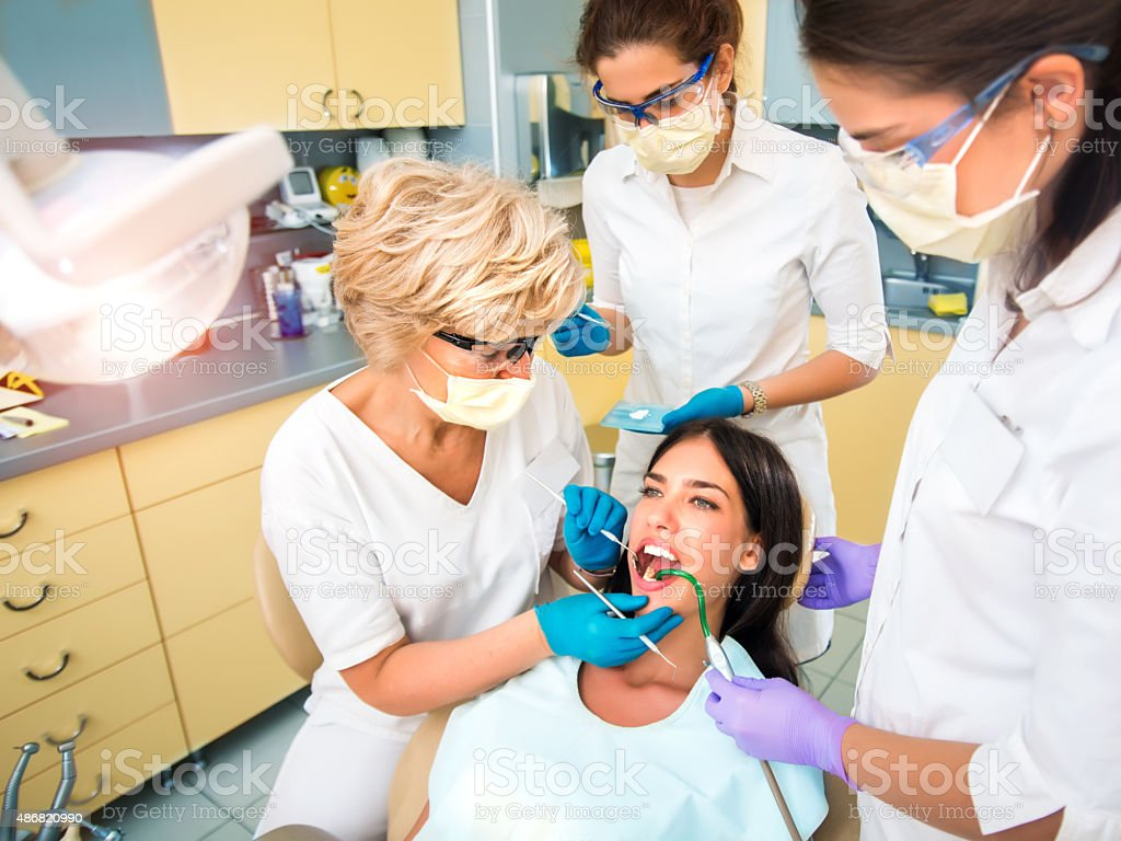 At dentist's office stock photo