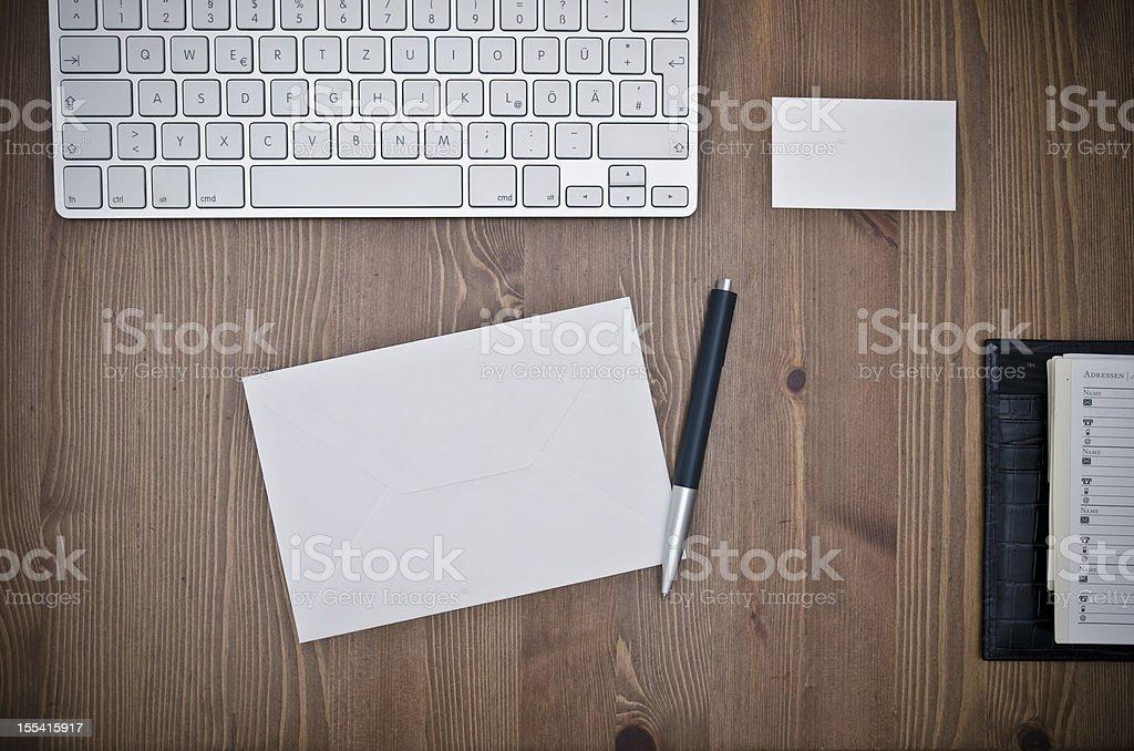 at desk royalty-free stock photo