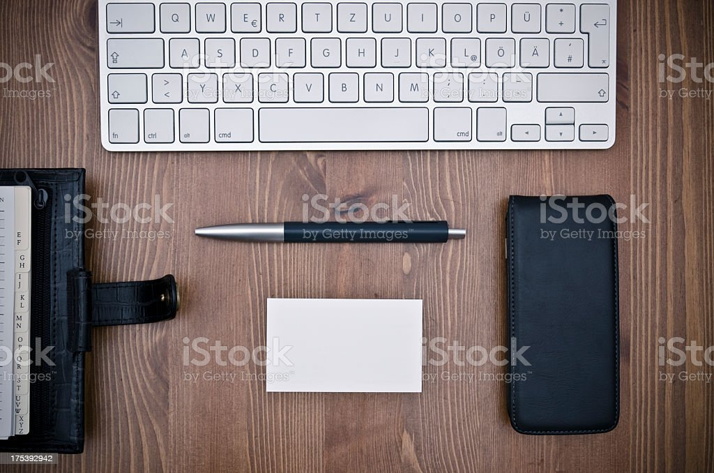 at desk royalty-free stock photo