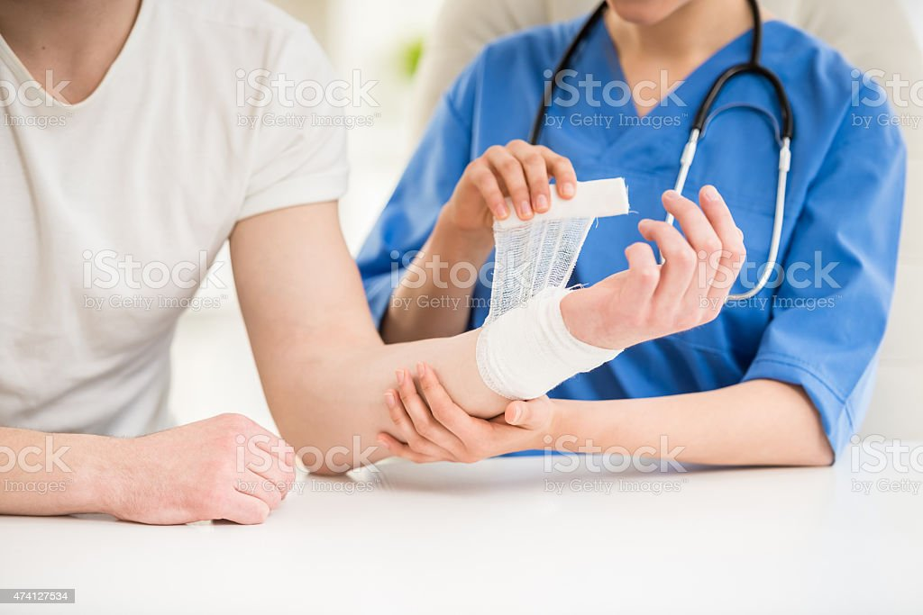 At doctor's stock photo