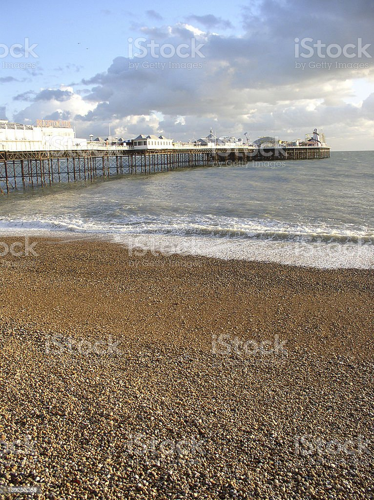 At dusk - Brighton pier stock photo