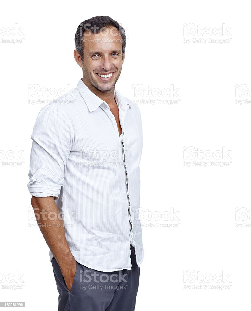 At ease with himself royalty-free stock photo