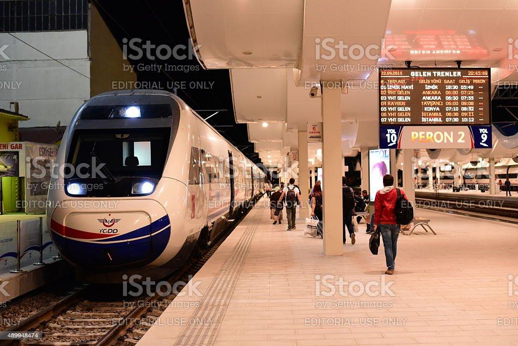 TCDD YHT at Eskisehir Railway Station stock photo