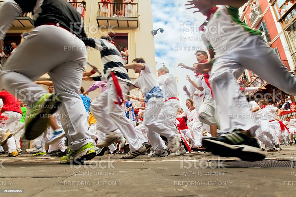 At festival of San Fermin. Pamplona stock photo