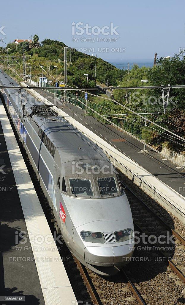 TGV at Guethary stock photo