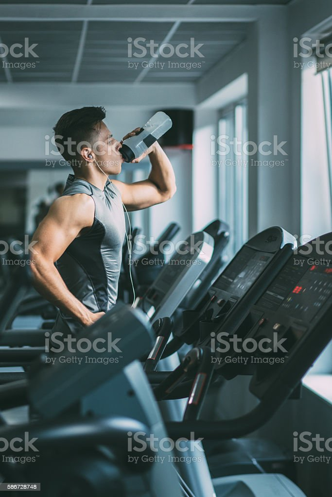 At gym stock photo