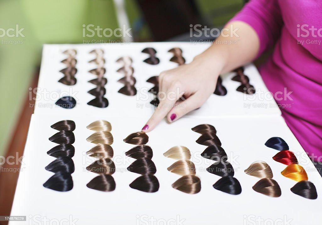 At hair salon royalty-free stock photo