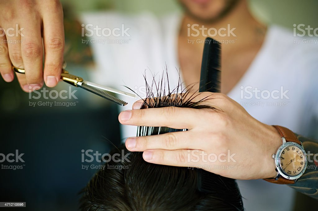 At hair salon stock photo