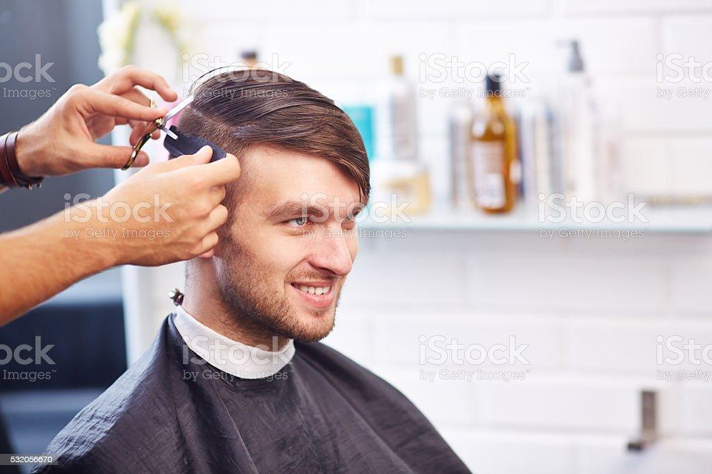 At hairdresser stock photo
