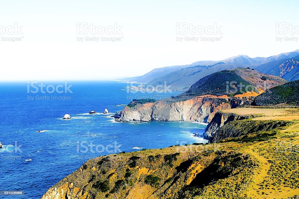 At Highway 1, Big Sur, California, USA stock photo