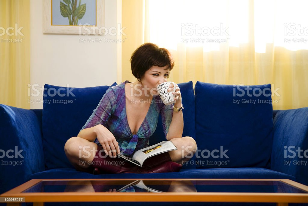 at home royalty-free stock photo