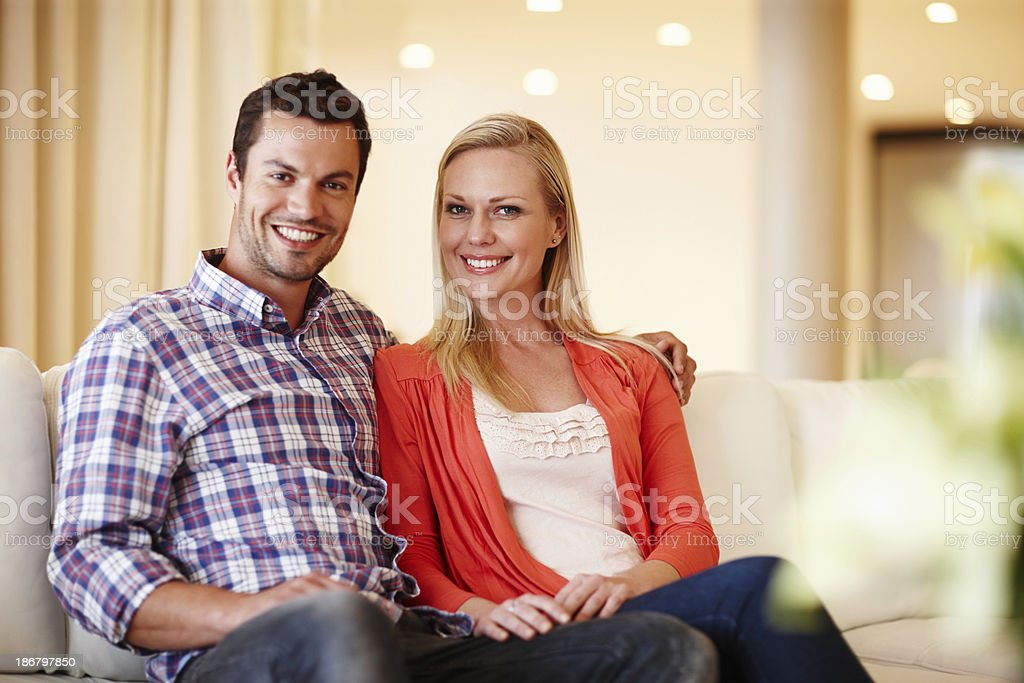 At home with the one I love royalty-free stock photo