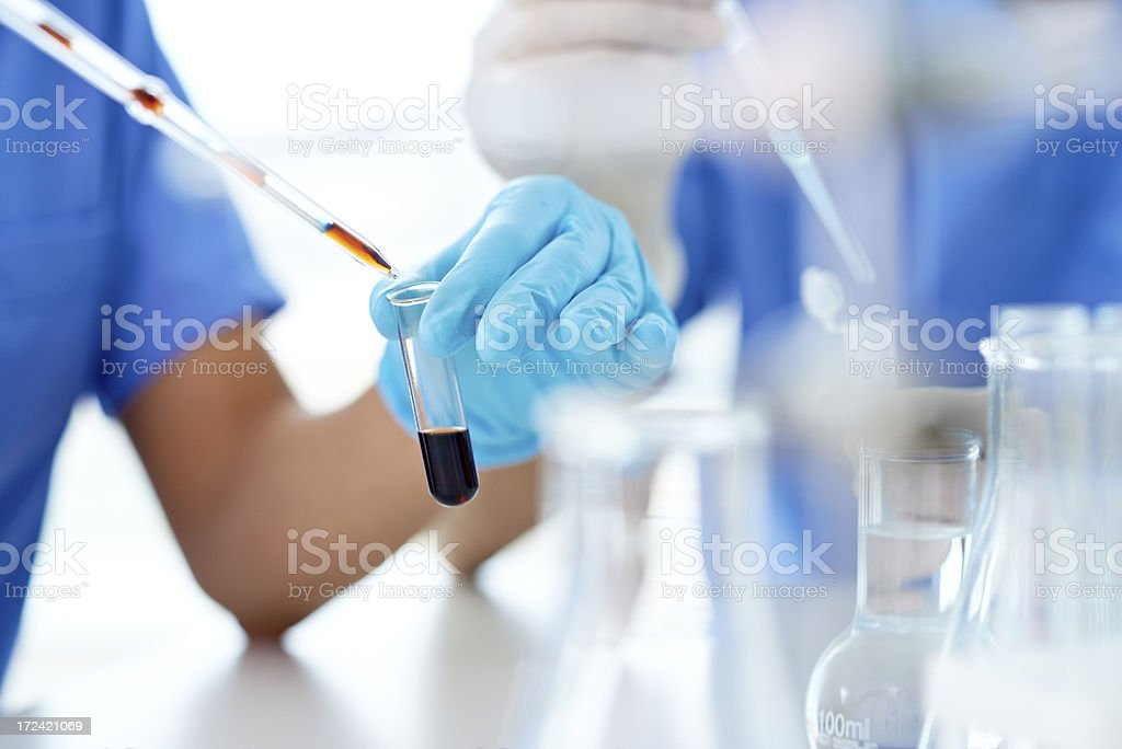 At laboratory stock photo