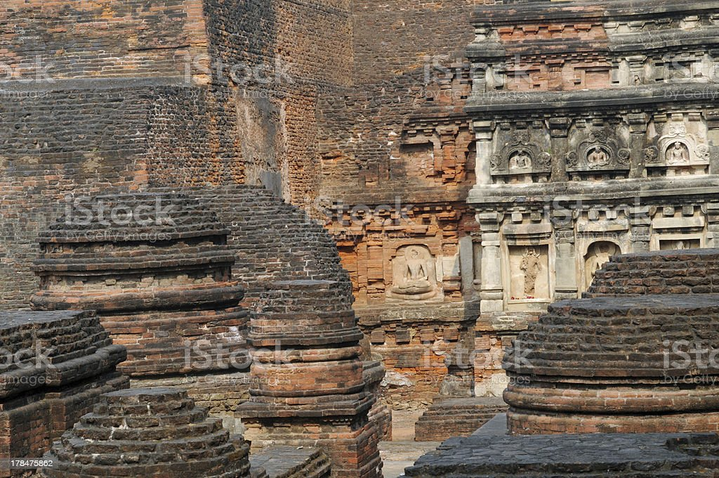 At Nalanda, the ancient Buddhist site. stock photo