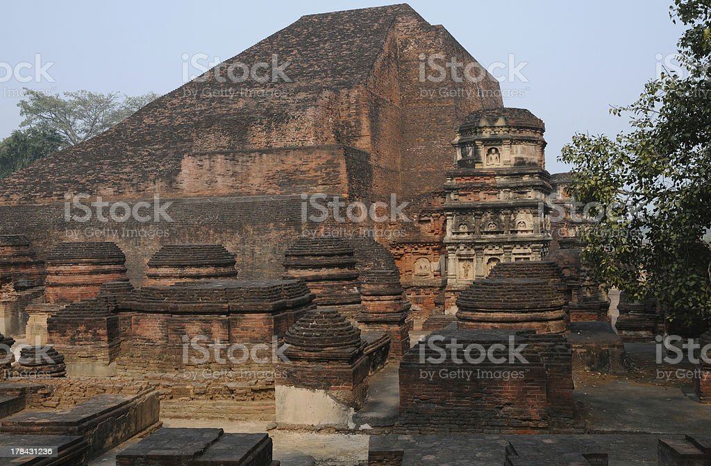 At Nalanda, the ancient Buddhist university. stock photo