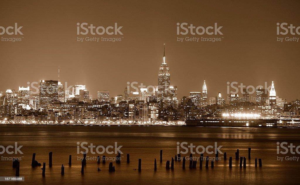 NYC at Night royalty-free stock photo