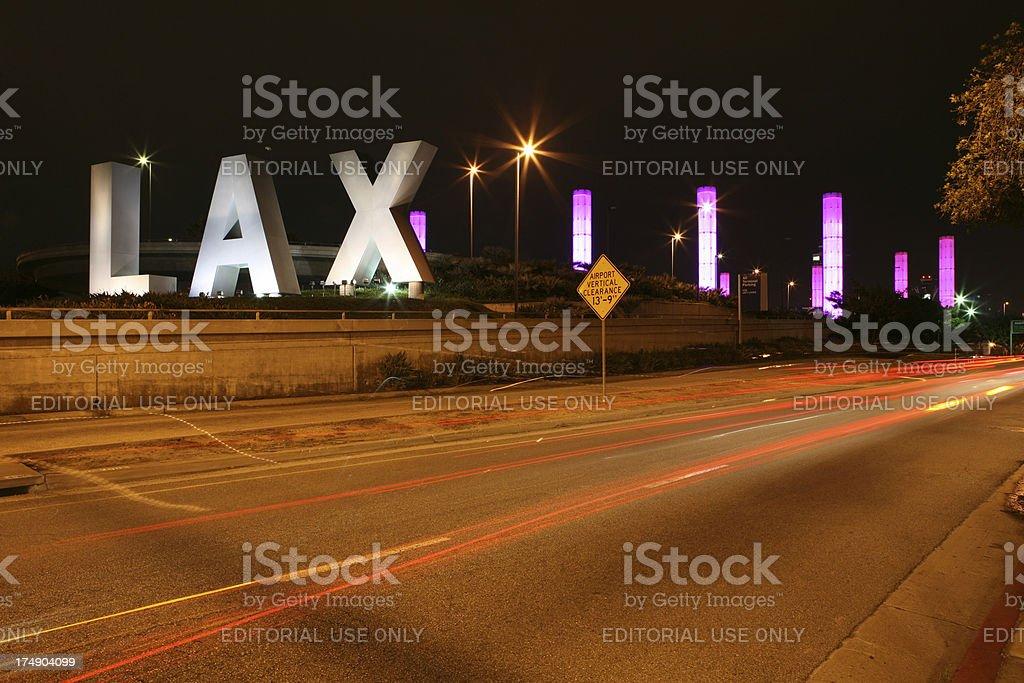 LAX at Night royalty-free stock photo