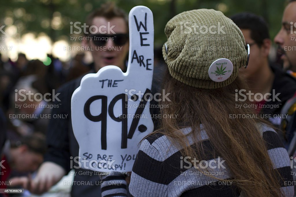 99% at Occupy Wall Street stock photo