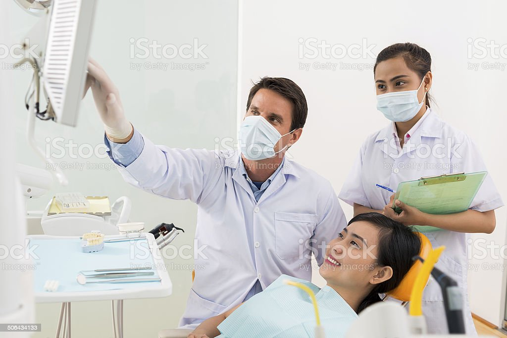 At orthodontist stock photo