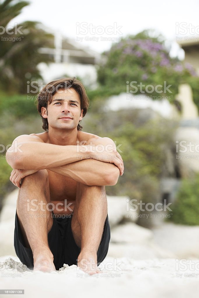 At peace in this very moment royalty-free stock photo