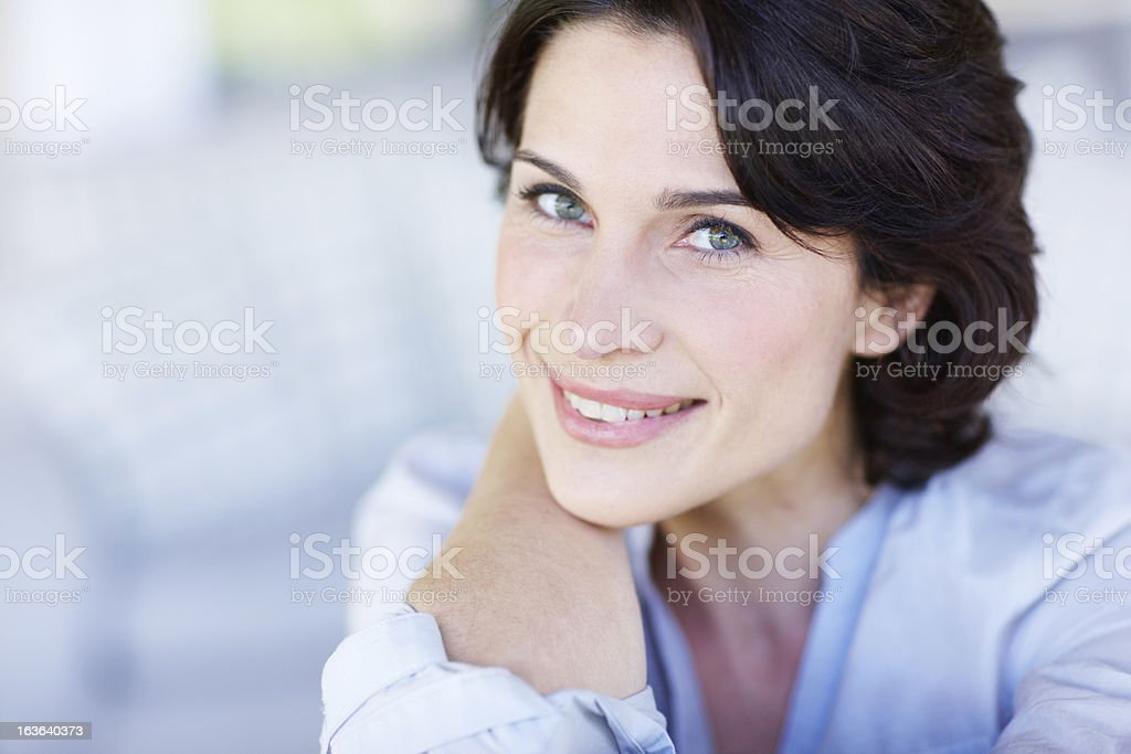 At peace with herself royalty-free stock photo