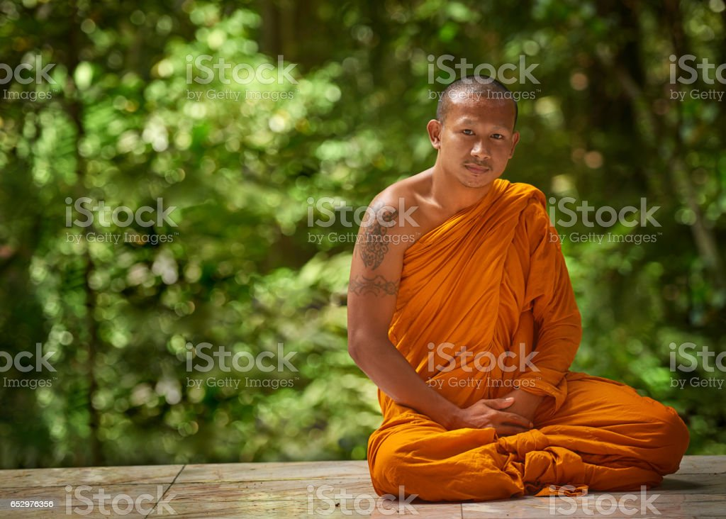 At peace with nature stock photo