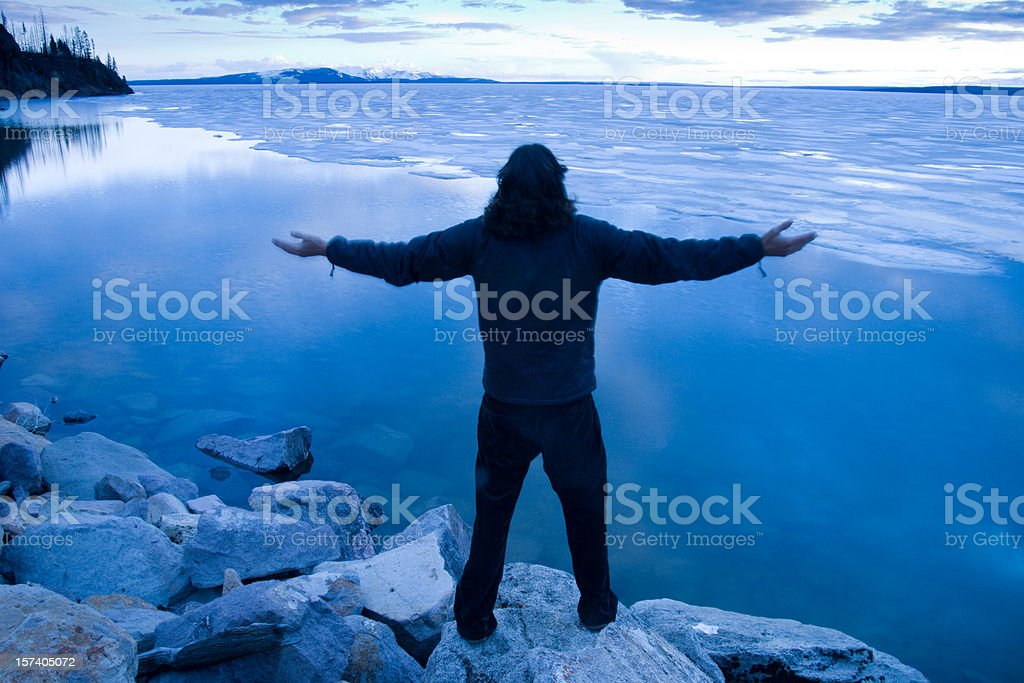 At peace with the world royalty-free stock photo