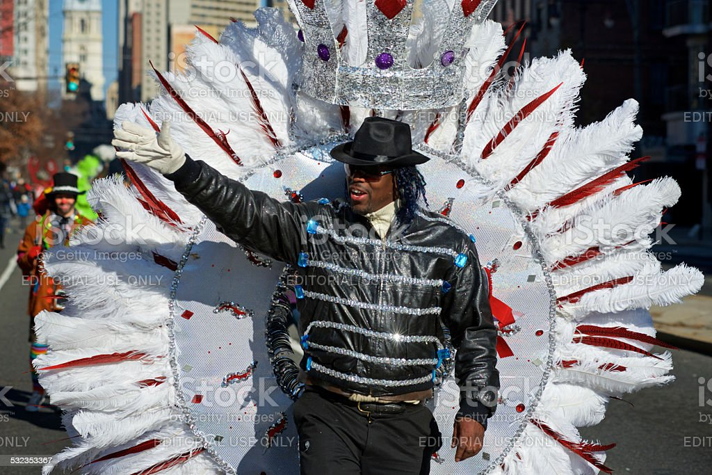 MJ at Philly Mummers Parade stock photo