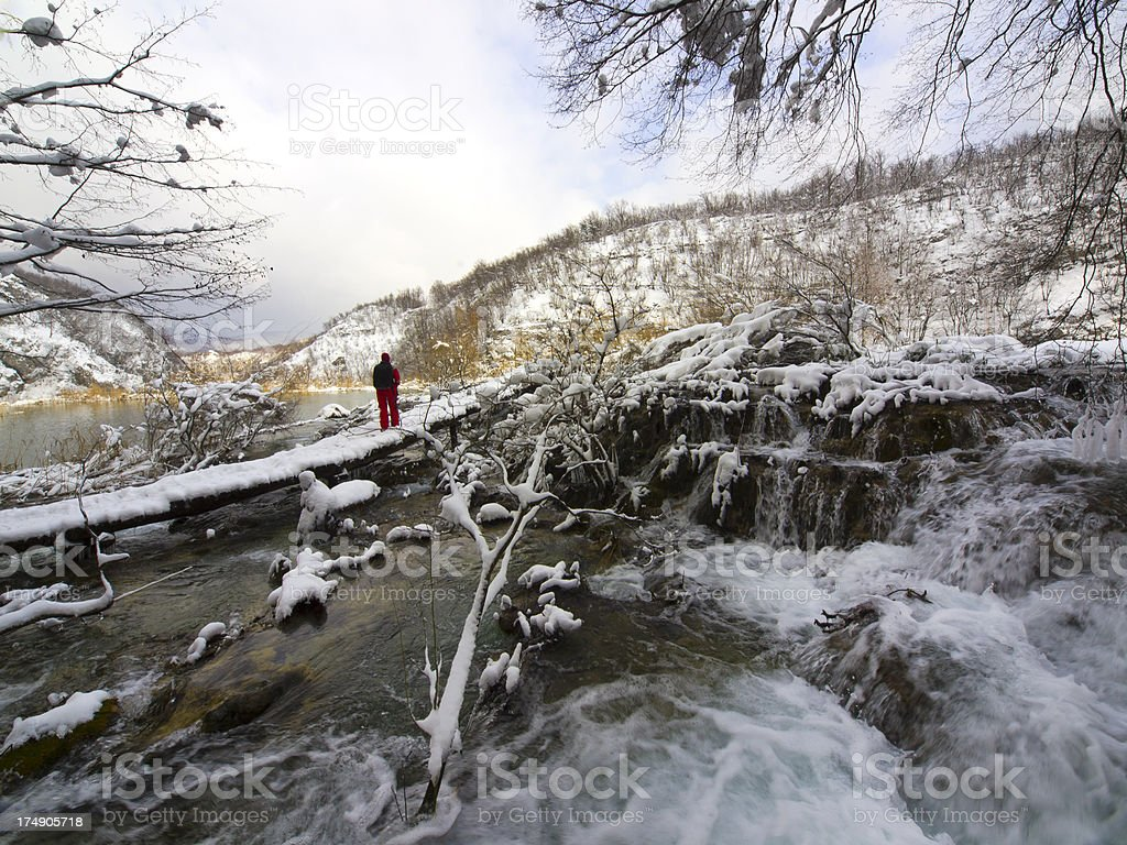 At Plitvice royalty-free stock photo