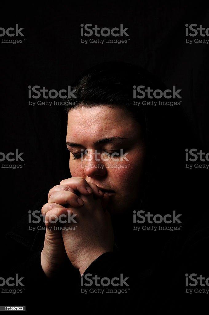 At Prayer stock photo