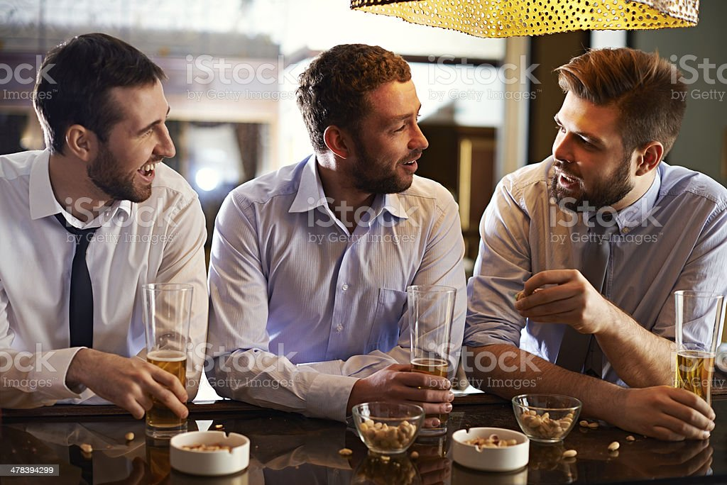 At pub after work stock photo