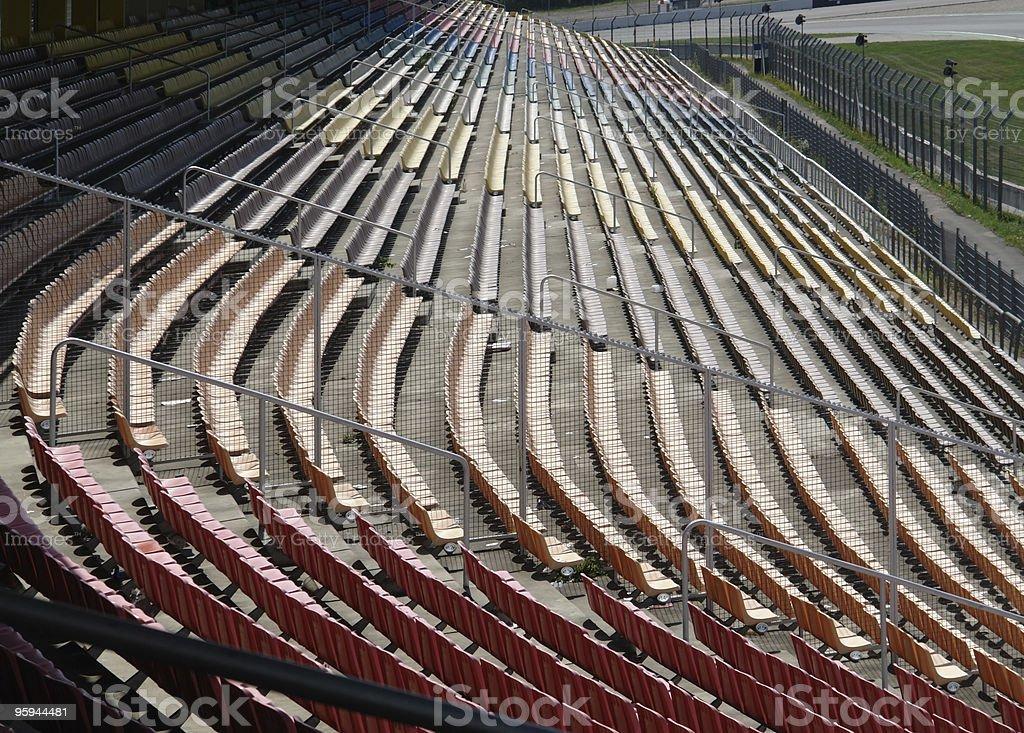 at racetrack tribune royalty-free stock photo