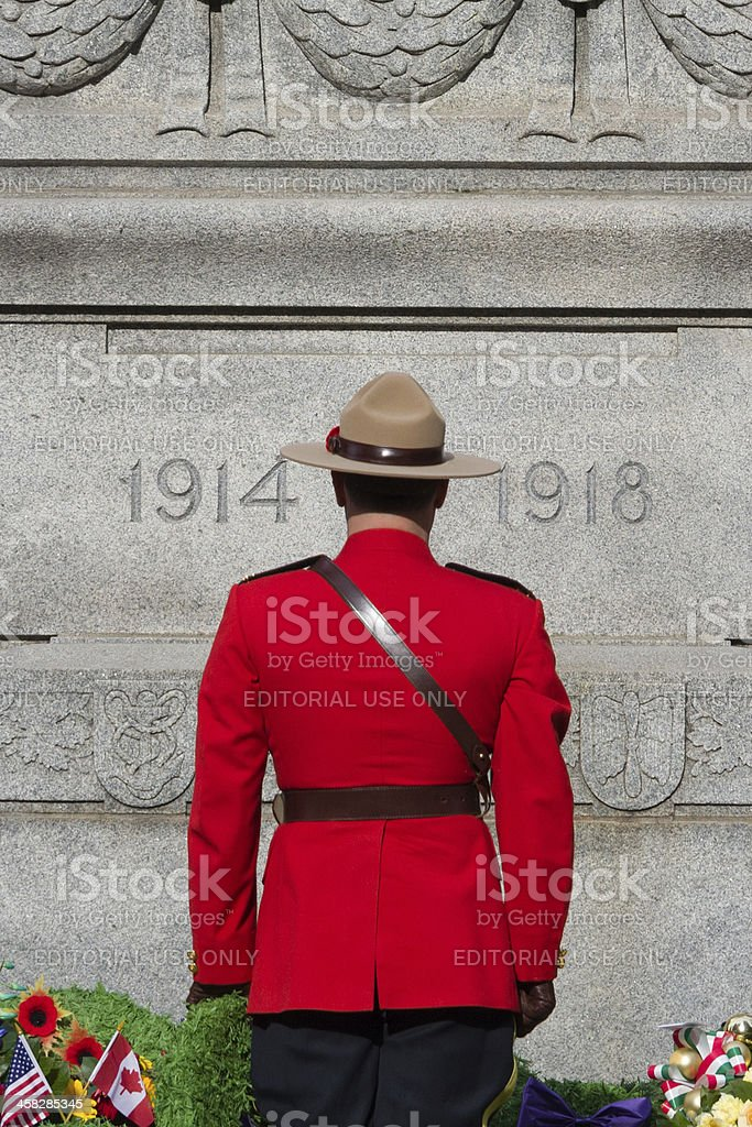 RCMP at Remembrance Day Services royalty-free stock photo